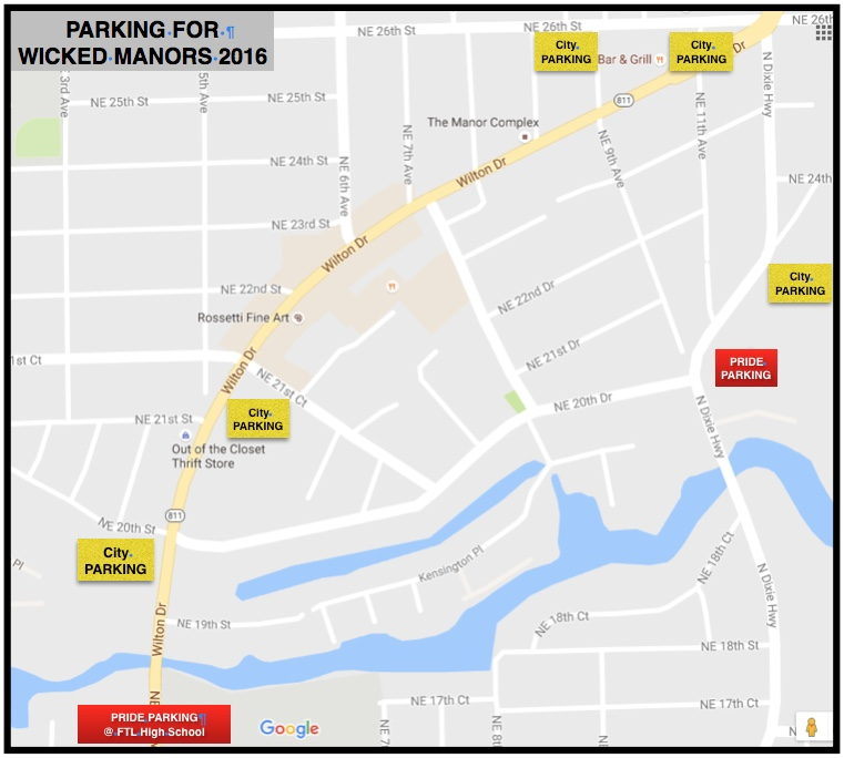 PARKING – Wicked Manors 2018 – GAME NIGHT! on city street map of wilton, city of wilton manors employment, wilton manors florida map,